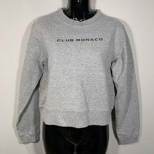 VTG Club Monaco 90s Cropped Crewneck Sweatshirt